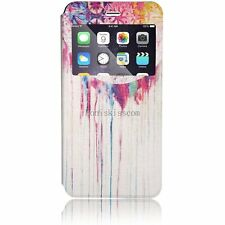 Halloween Flip Wallet Card Holder Case Window View Cover For iPhone 6 Plus
