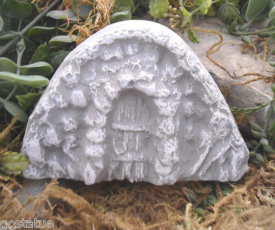 Caterpillar plastic fairy door mold plaster concrete casting mould