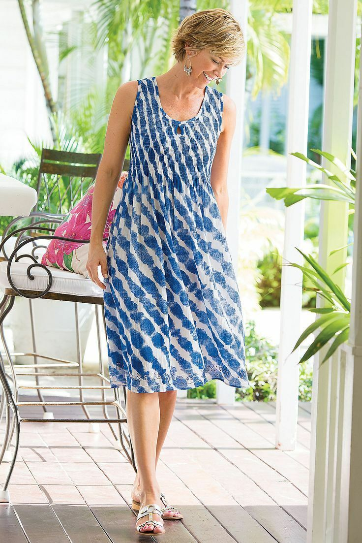 Soft Soft Soft Surroundings Tonal Tides Dress size Small a4c395