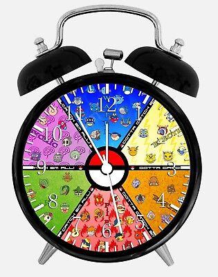 "2019 Mode Pokemon Ball Alarm Desk Clock 3.75"" Home Or Office Decor E387 Nice For Gift"