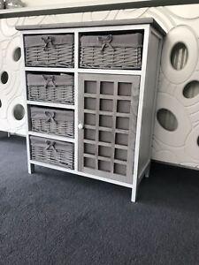 Grey-White-Storage-Unit-Cabinet-Retro-Shabby-Chic-Kids-Furniture-Bathroom-Wicker