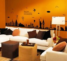 Silhouette City Wall Stickers,Wall Decals A_FYSA