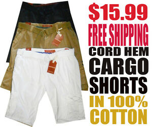 Restruck-Men-039-s-NWT-Cargo-Cord-Hem-Shorts-with-Free-Shipping