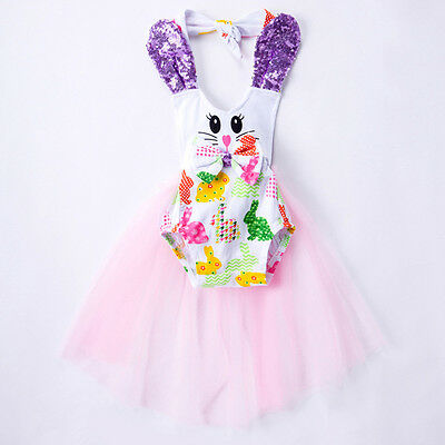 Cute Toddler Kids Baby Tutu Dress Girls Romper Bodysuit Dresses Summer Outfits