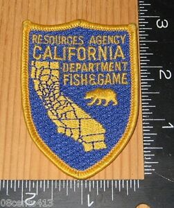 Resources agency california department fish game police for California department of fish and game