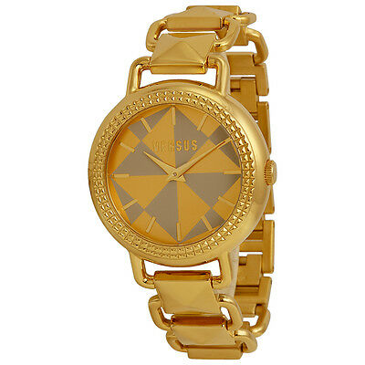 Versus by Versace Coconut Grove Gold Geometric Dial Gold Ion-plated Pyramid