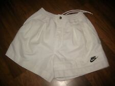 Vtg 80s NIKE White TENNIS Gray Tag SMALL Active athletic Sampras Agassi shorts S