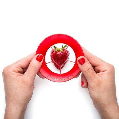 PELEG DESIGN Erdbeer-Ausstecher Sweet Heart ABS rot NEU + OVP