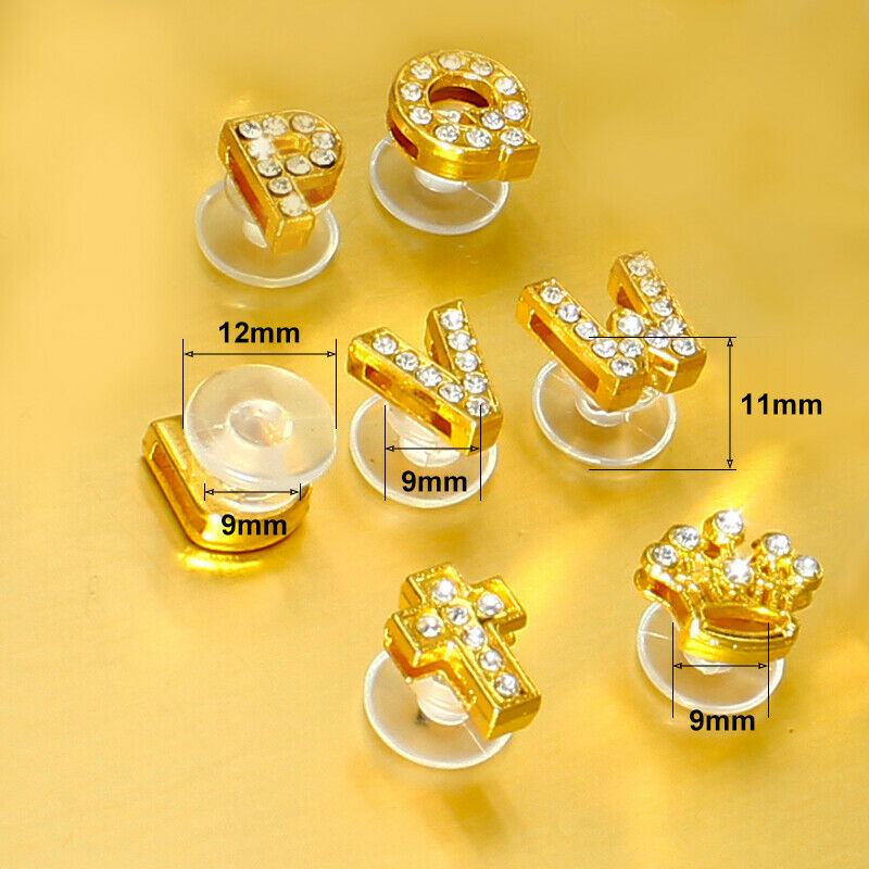 DIY Gold Letters Shoe Charms Accessory Shoe Decorative Buckle For Hole Shoes