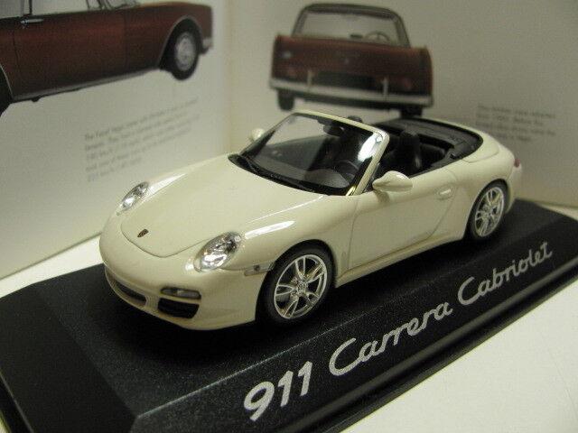 1 43 MINICHAMPS PORSCHE 911 CARRERA CABRIOLET DIECAST concessionnaire version (Blanc)
