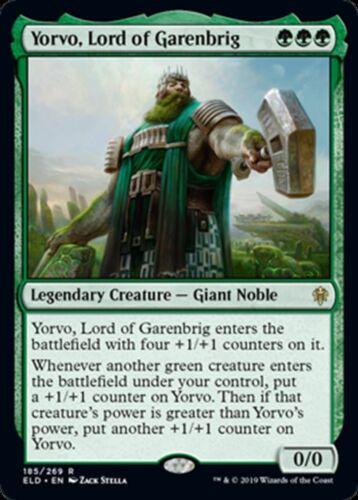 Throne of Eldraine R NM//M Yorvo Lord of Garenbrig MTG Magic -