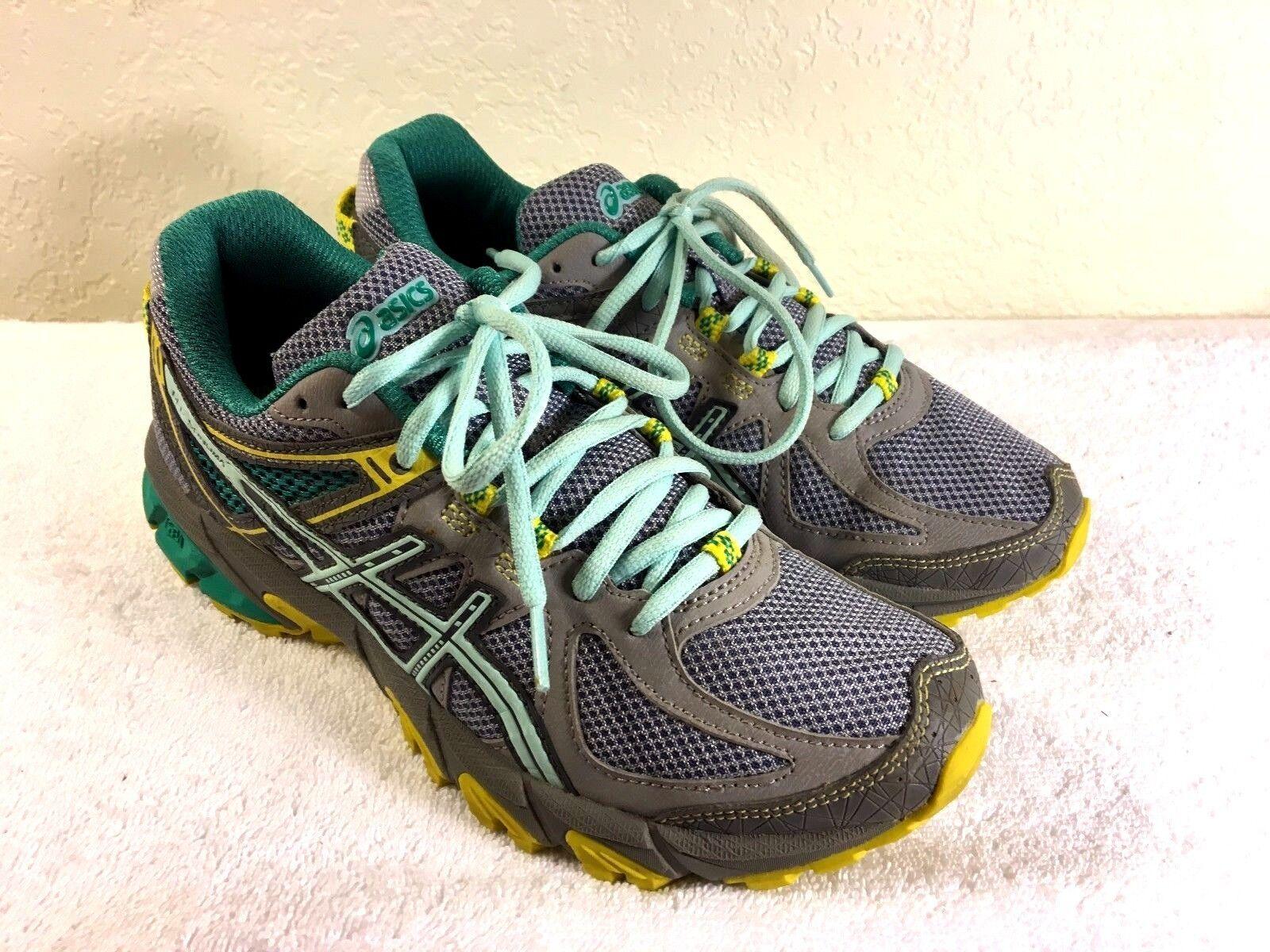 ASICS T4F79 women's Gel-Sonoma Green & Grey Running shoes Size US 7.5 NIce
