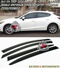 14-17 Mazda 3 4/5dr Window Rain Guard Visors (Tinted)