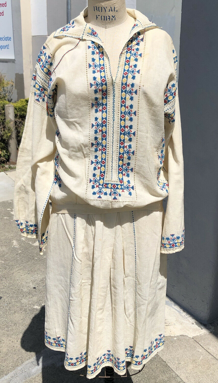 Charming Antique 1920's Hungarian Embroidered Boh… - image 1