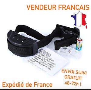 COLLIER-ANTI-ABOIEMENT-electrique-dressage-pour-chien-NEUF-ENVOI-SUIVI-OFFERT