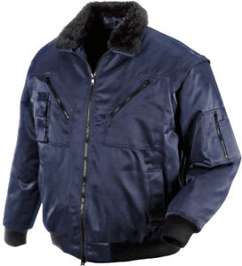 pilotenjacke marine blau arbeitsjacke 4in1 winter herren jacke gr 2xl winterbau ebay. Black Bedroom Furniture Sets. Home Design Ideas