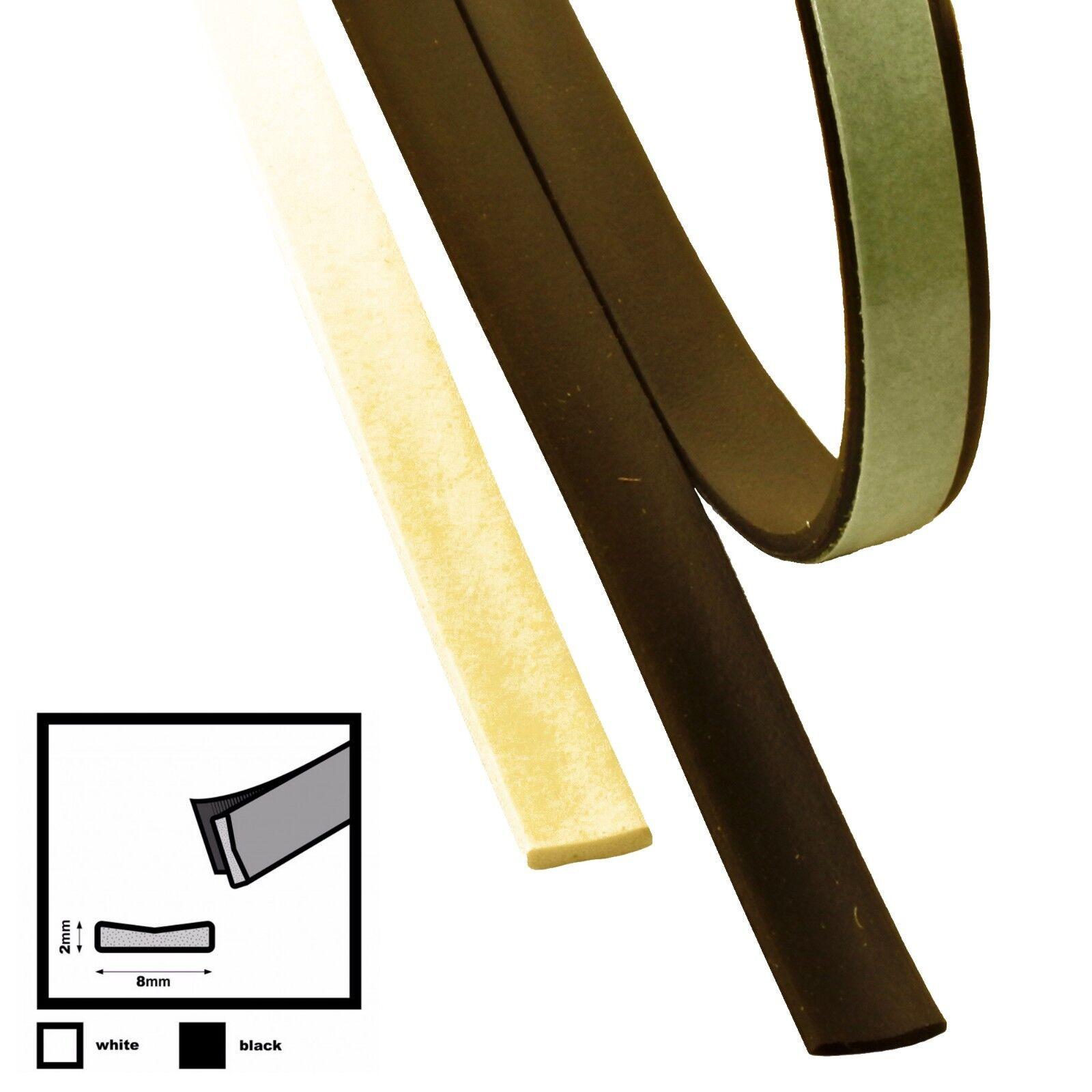 I 8mm x 2mm     Fensterdichtung Türdichtung SELBSTKLEBEND EPDM schwarz weiß   Meistverkaufte weltweit  3c013d