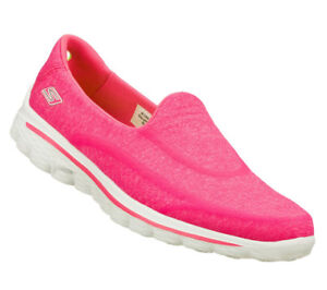 Details zu NEU SKECHERS Damen Fitness Sneakers Freizeitschuh GO WALK 2 SUPER SOCK Pink