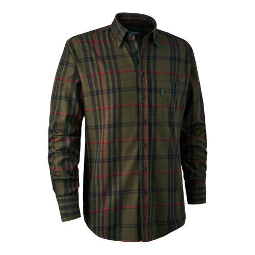 Deerhunter Larry Shirt Green Check 100/% Cotton Men/'s Country Hunting Shooting