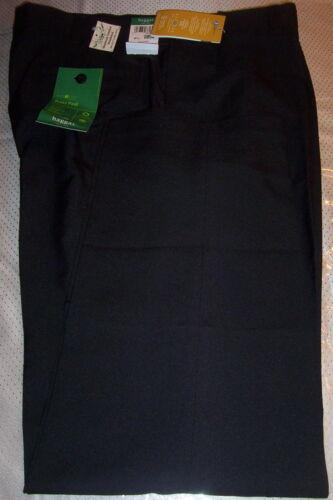 "BLACK 34X30 NWT HAGGAR /""REPREVE/"" FLAT FRONT COMFORT WAIST DRESS PANTS"