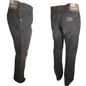 Pantaloni a zampa da uomo Jeans WRANGLER bootcut in cotone velluto w31 w38 verd