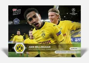 Jude Bellingham RC w Erling Haaland - UCL Topps Now 2020/2021 - Card #65 UEFA