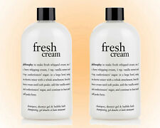 Philosophy Fresh Cream Shampoo Shower Gel & Bubble Bath Duo-Two 16 OZ. Size -NEW