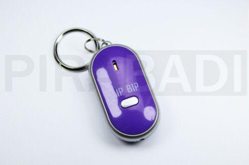 Keyring Whistler with LED Key Loss Locating Keys 6 Coloris Choice