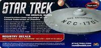 Star Trek Classic Uss Enterprise 1701 1/350 Scale Conversion Decals 14 Names