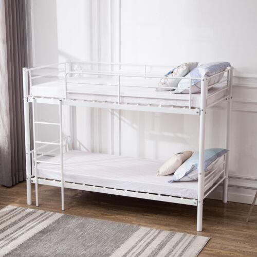 MODERN 3FT SINGLE TWINS METAL BUNK BED FRAME FOR ADULT KIDS BEDROOM FURNITURE