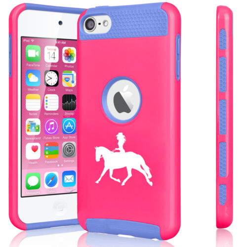 For Apple iPod Touch 5th 6th Shockproof Hard Soft Case Cowgirl Riding Horse