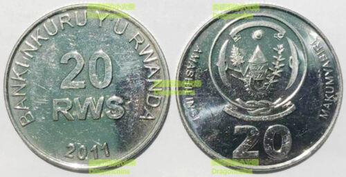 Rwanda 20 RWS Francs 2011 25mm Steel coin UNC