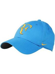 New Nike RF Roger Federer Hat Cap Blue Argentina 371202-417 Limited ... 8aabe68821cf