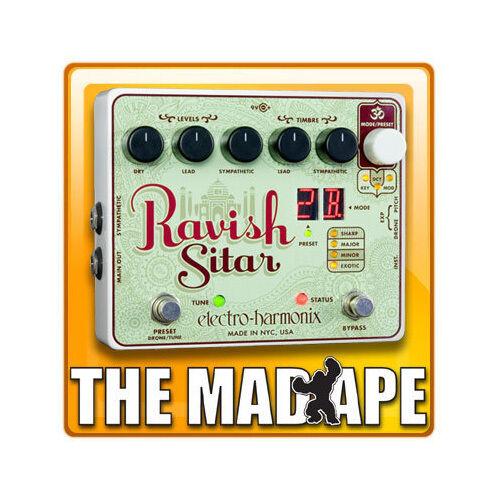 electro harmonix ravish sitar emulator guitar effect pedal for sale online ebay. Black Bedroom Furniture Sets. Home Design Ideas
