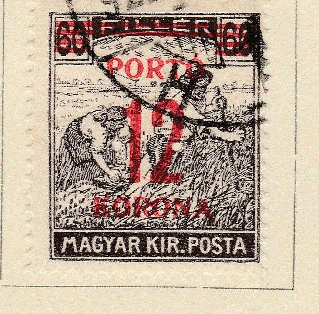 A6P8F27 Ungarn Hongrie Hungría Hungary Postage Due Stamp 1921-25 12k on 60f used