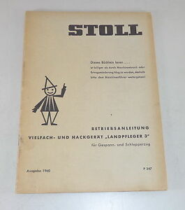 Industrial Operating Instructions Stoll Vielfach And Hackgerät Landpfleger 3 Stand 1960 Special Buy