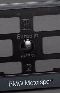 2-x-BMW-Euro-License-Number-Plate-Frame-Holder-Tag-Mount