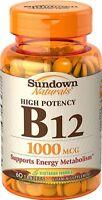 Sundown Naturals B-12 1000 Mcg Tablets 60 Tablets Each on sale