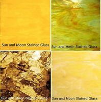 Spectrum Stained Glass Sheet Pack (4 Sheets of 8X10) YELLOW Stained Glass Sheets