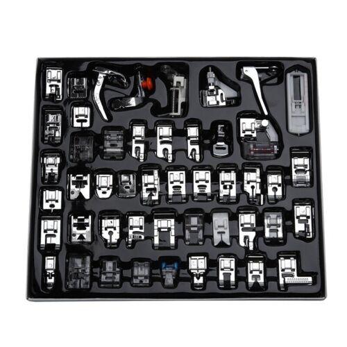 Profesional 48 piezas Juego de prensatelas de maquina de coser para Brother Q5R7