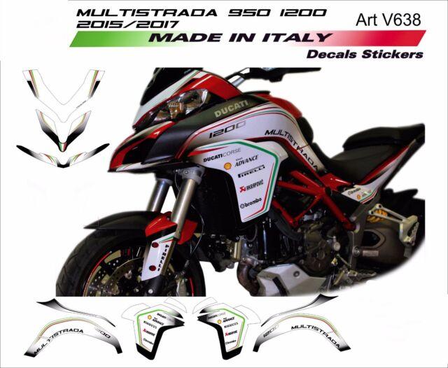 Adesivi Stickers moto Ducati Multistrada 1000 1100 decal