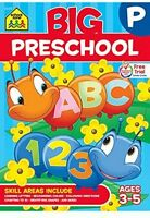 Big Preschool Workbook, Children Activity Learning Kids Study Aids Education on sale