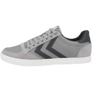 Hummel-testa-Stadil-CANVAS-LOW-CUT-Sneaker-Retro-Scarpe-Alloy-203-685-1100