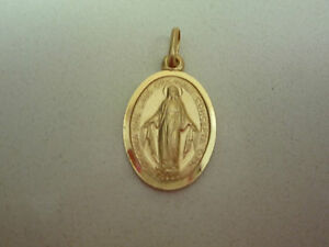 new-9ct-9k-yellow-gold-oval-pendant-miracolous-virgin-mary-holy-medal-3-sizes