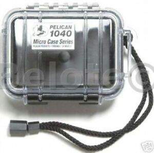 Pelican Micro Case Solid Black 1040 New 7.5 x 5 x  2.1 Fishing