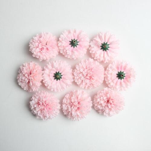 10 Artificial Floral Silk Chrysanthemum Flower Blossom Head Home Decor DIY Craft