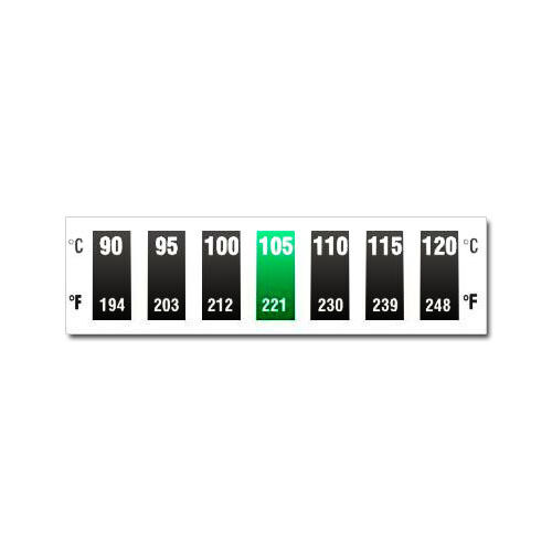 Digitemp 7 Level Horizontal Dual Scale 90°C to 120°C Thermometer strip sticker