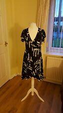 "Ladies ""Stella Morgan"" Black and White patterned Summer Dress (Size M)"