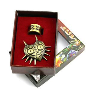Details about The Legend of Zelda Owl Symbols Badge And Gold Ring Wearable  Cosplay Set