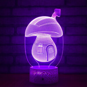 Mushroom-House-3D-Night-Light-7-Color-Change-LED-Desk-Lamp-Touch-Room-Decor